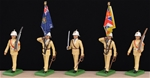 Royal Marines Color Guard in Tropical Dress - 1955
