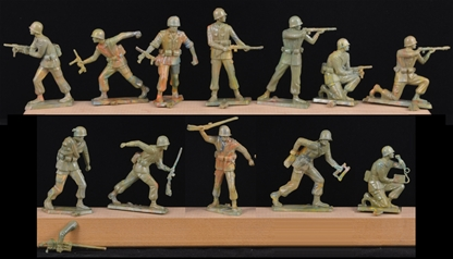 Commandos - unpainted set of 10 in 7 poses