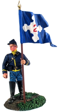 Union 2nd Corps Flagbearer Dismounted