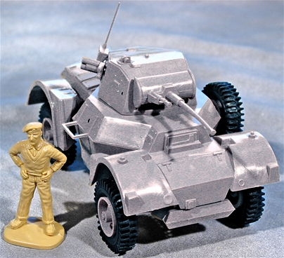 WWII British Daimler Armored Car - Gray Color