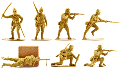 WWII Japanese Infantr 14 in 6 poses no box