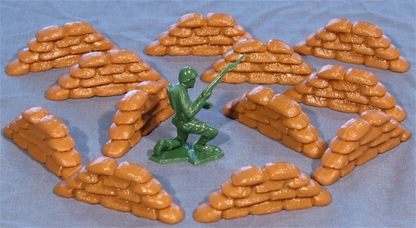 WW II Piled Sandbags - limited stock!