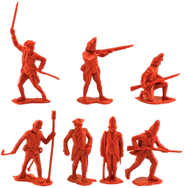 60mm 1776 British Infantry 7 in 7 poses