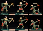 Green Knights - 6 in 3 Poses - hand painted