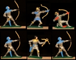 Silver Knights - 6 in 4 Poses - hand painted