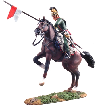 French 4th Lancer Trooper on Rearing Horse #1