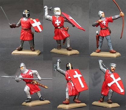Hospitalier Knights in Red Surcoats