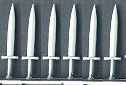 6 Short Swords or Daggers for Deetail Knights