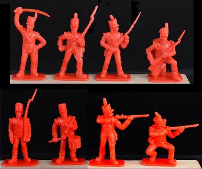 Dose Soldat Figur Napoleon 60mm