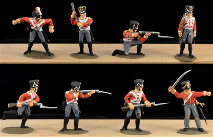 1815 Brtish Infantry - fully painted 6 in 6 poses