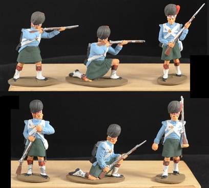 42nd Highlanders - Sudan - 6 in 4 poses full paint