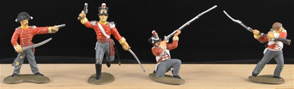 British Line Infantry - full paint 6 in 4 poses