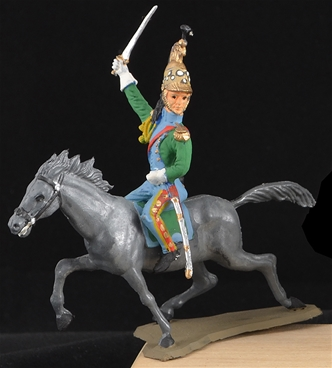 Mounted Napoleonic French Dragoon - matte painted