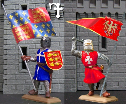 Knight with Banner - 1 figure