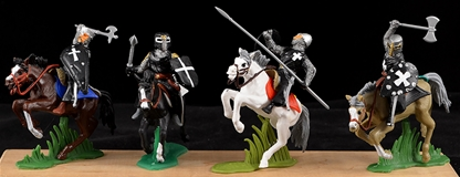 Mounted Hospitalier Knights - black surcoats