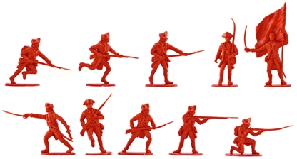 1776 British Infantry #2 - 10 in rare red color