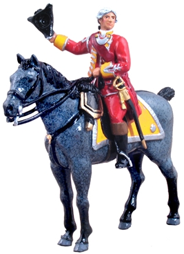 British 35th Foot Officer Mounted 1754-1763