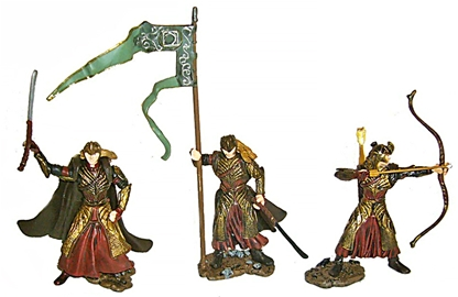3 Elf Soldiers - replacement weapons, wrong bases