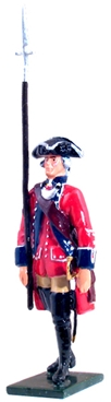 British 60th Foot Officer Marching 1754-1763