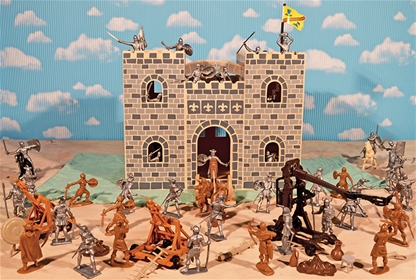 Wooden Castle Knights Playset