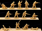 WW II German Paratroops vintage 1990s - 28 in tan