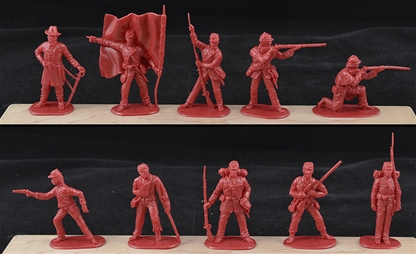 Union Infantry - 20 dark red color