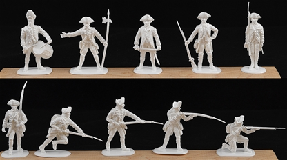 1776 British Infantry set #1 - 10 in white color