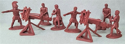 Greek Artillery - Lithobolos Stone Throwers & Crew
