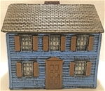 Blue Clapboard House - painted expanded foam resin
