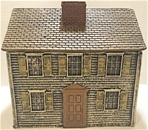 White Clapboard House painted expanded foam resin