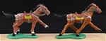 Recast Brown Medieval War Horses - painted