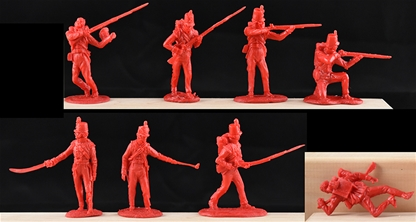 Napoleonic British Infantry - red color