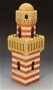 Desert Village Minaret - painted resin building