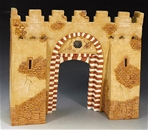 Desert Village Gateway - painted resin building