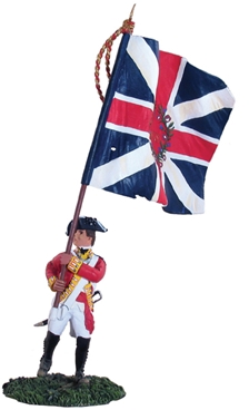 British 80th Foot Flagbearer King's Colour