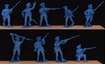 1776 Colonial Infantry - 12 figures in 9 poses