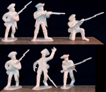 1776 French Infantry - 12 figures in 5 poses