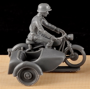 WWII German Motorcycle Combination - gray color