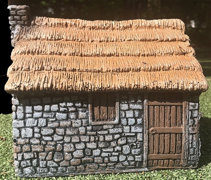 Small Stone Cottage - painted expanded foam resin