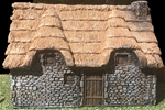 Large Stone Cottage - painted expanded foam resin
