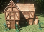 Half-Timbered Tavern - painted expanded foam resin