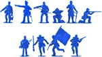 Union Infantry #1 - 16 in 10 poses - set B