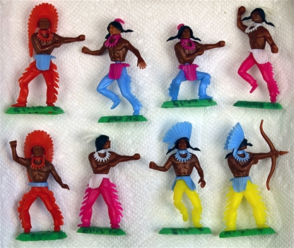 Original 1980s Swoppet-Style Indians - Very Rare