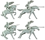 Mounted Prince Valiant Knights - gray color