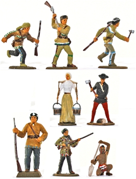 Davy Crockett's Early America - fully painted