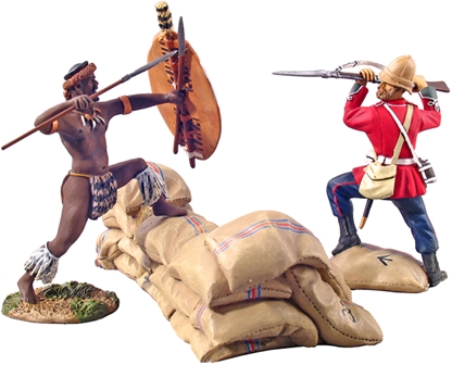 British 24th Foot Bayoneting Zulu uDloko Regt