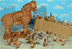 Deluxe Painted Trojan War Playset