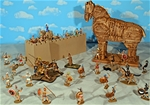 Super Deluxe Painted Trojan War Playset