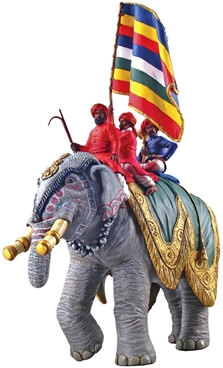 Jaipur Elephant with Standard Bearer