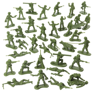 Plastic Army Women - in Army Green Color